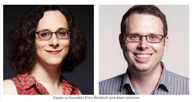 IOpipe co-founders Erica Windisch and Adam Johnson
